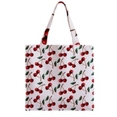 Cherry Red Grocery Tote Bag by Kathrinlegg