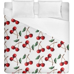 Cherry Red Duvet Cover (king Size) by Kathrinlegg