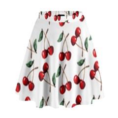 Cherry Red High Waist Skirt by Kathrinlegg