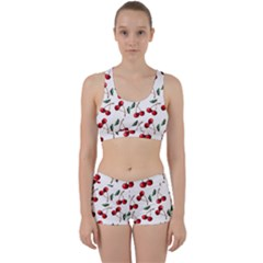 Cherry Red Work It Out Sports Bra Set by Kathrinlegg
