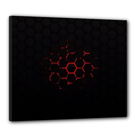 Abstract Pattern Honeycomb Canvas 24  X 20  by BangZart