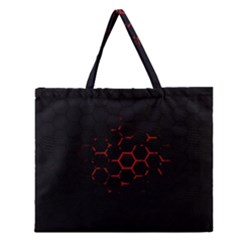 Abstract Pattern Honeycomb Zipper Large Tote Bag by BangZart