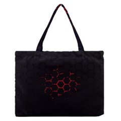 Abstract Pattern Honeycomb Medium Zipper Tote Bag