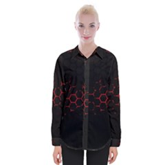 Abstract Pattern Honeycomb Womens Long Sleeve Shirt
