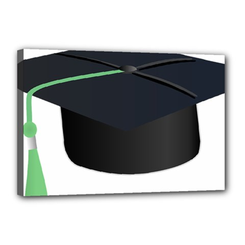 Graduate Cap Canvas 18  X 12  by Colorfulart23