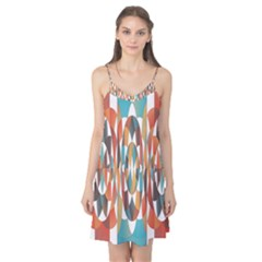 Colorful Geometric Abstract Camis Nightgown by linceazul