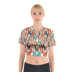 Colorful Geometric Abstract Cotton Crop Top by linceazul