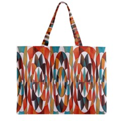 Colorful Geometric Abstract Medium Zipper Tote Bag by linceazul