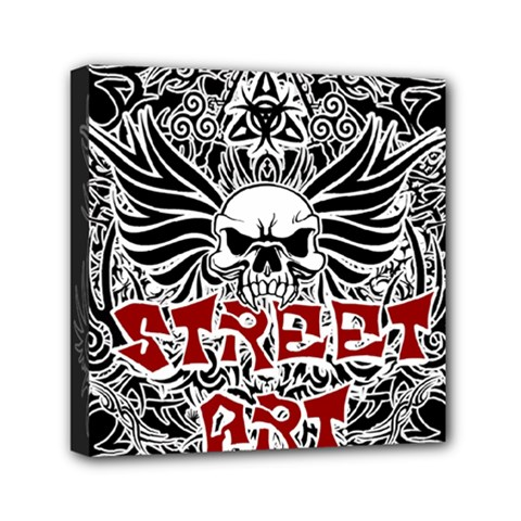 Tattoo Tribal Street Art Mini Canvas 6  X 6  by Valentinaart