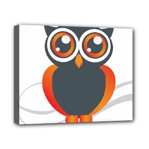 Owl Logo Canvas 10  X 8  by BangZart