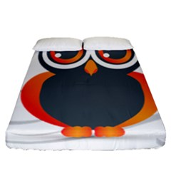 Owl Logo Fitted Sheet (queen Size) by BangZart