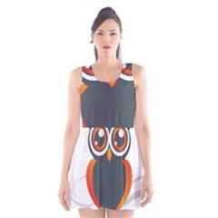 Owl Logo Scoop Neck Skater Dress