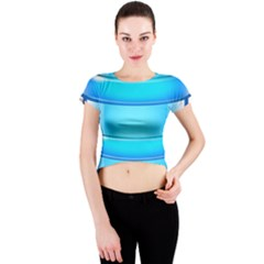 Large Water Bottle Crew Neck Crop Top