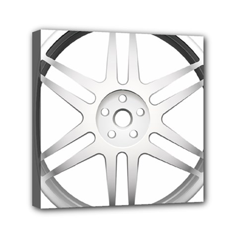 Wheel Skin Cover Mini Canvas 6  X 6  by BangZart