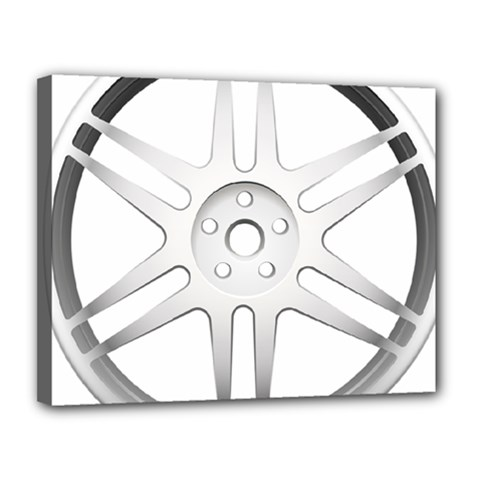 Wheel Skin Cover Canvas 14  X 11  by BangZart