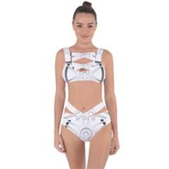Wheel Skin Cover Bandaged Up Bikini Set