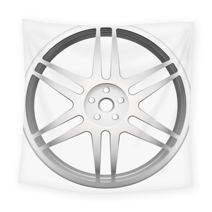Wheel Skin Cover Square Tapestry (Large)