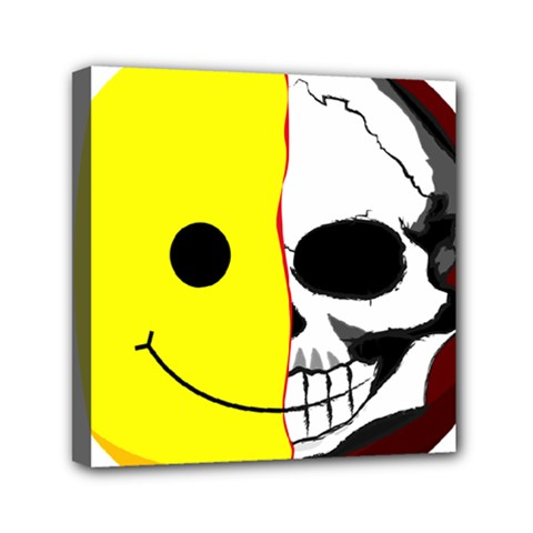 Skull Behind Your Smile Mini Canvas 6  X 6