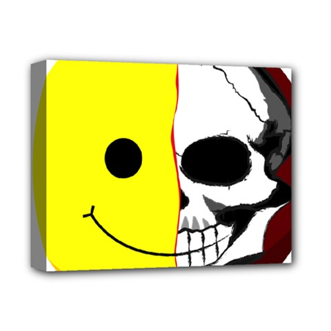 Skull Behind Your Smile Deluxe Canvas 14  X 11  by BangZart