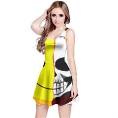 Skull Behind Your Smile Reversible Sleeveless Dress