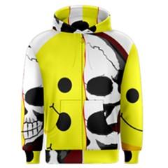 Skull Behind Your Smile Men s Zipper Hoodie