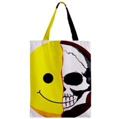 Skull Behind Your Smile Zipper Classic Tote Bag by BangZart