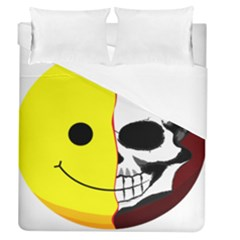 Skull Behind Your Smile Duvet Cover (queen Size) by BangZart