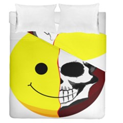 Skull Behind Your Smile Duvet Cover Double Side (queen Size) by BangZart