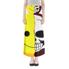 Skull Behind Your Smile Full Length Maxi Skirt