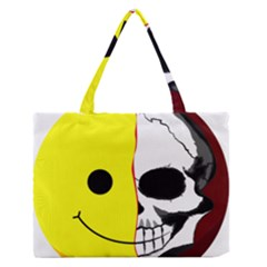 Skull Behind Your Smile Medium Zipper Tote Bag