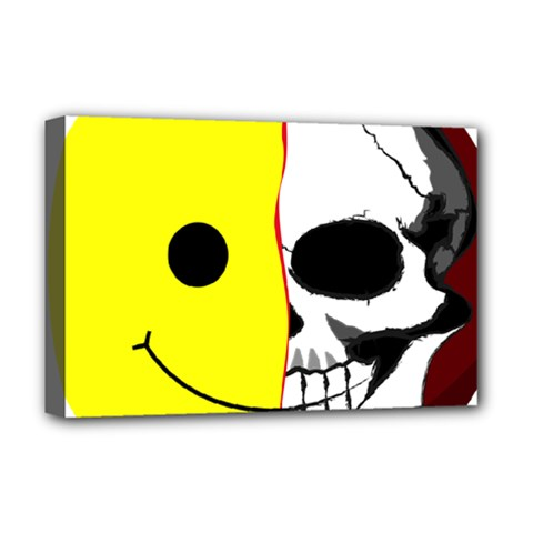 Skull Behind Your Smile Deluxe Canvas 18  X 12   by BangZart