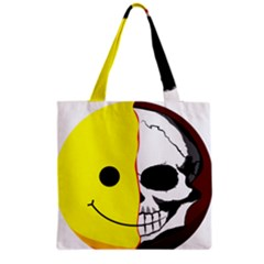Skull Behind Your Smile Grocery Tote Bag by BangZart