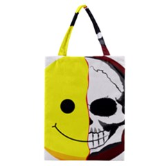 Skull Behind Your Smile Classic Tote Bag by BangZart