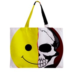 Skull Behind Your Smile Zipper Mini Tote Bag by BangZart