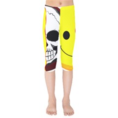 Skull Behind Your Smile Kids  Capri Leggings