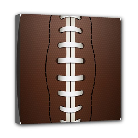 Football Ball Mini Canvas 8  X 8  by BangZart
