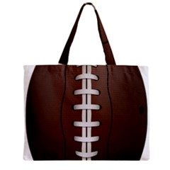 Football Ball Zipper Mini Tote Bag
