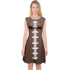 Football Ball Capsleeve Midi Dress