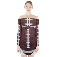 Football Ball Long Sleeve Off Shoulder Dress by BangZart