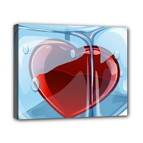 Heart In Ice Cube Canvas 10  X 8  by BangZart
