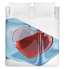 Heart In Ice Cube Duvet Cover (queen Size) by BangZart