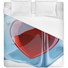 Heart In Ice Cube Duvet Cover (king Size)