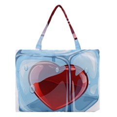 Heart In Ice Cube Medium Tote Bag by BangZart