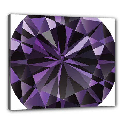 Amethyst Canvas 24  X 20  by BangZart