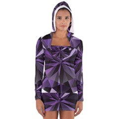 Amethyst Long Sleeve Hooded T Shirt