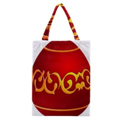 Easter Decorative Red Egg Classic Tote Bag by BangZart