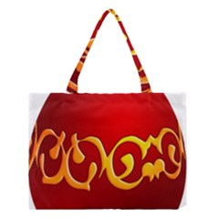 Easter Decorative Red Egg Medium Tote Bag by BangZart
