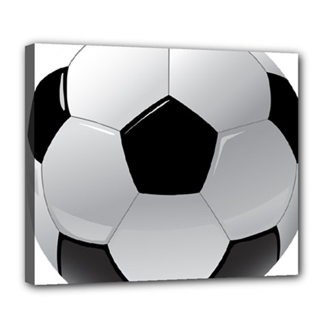 Soccer Ball Deluxe Canvas 24  X 20   by BangZart