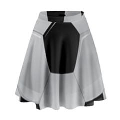 Soccer Ball High Waist Skirt by BangZart