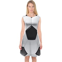 Soccer Ball Capsleeve Midi Dress